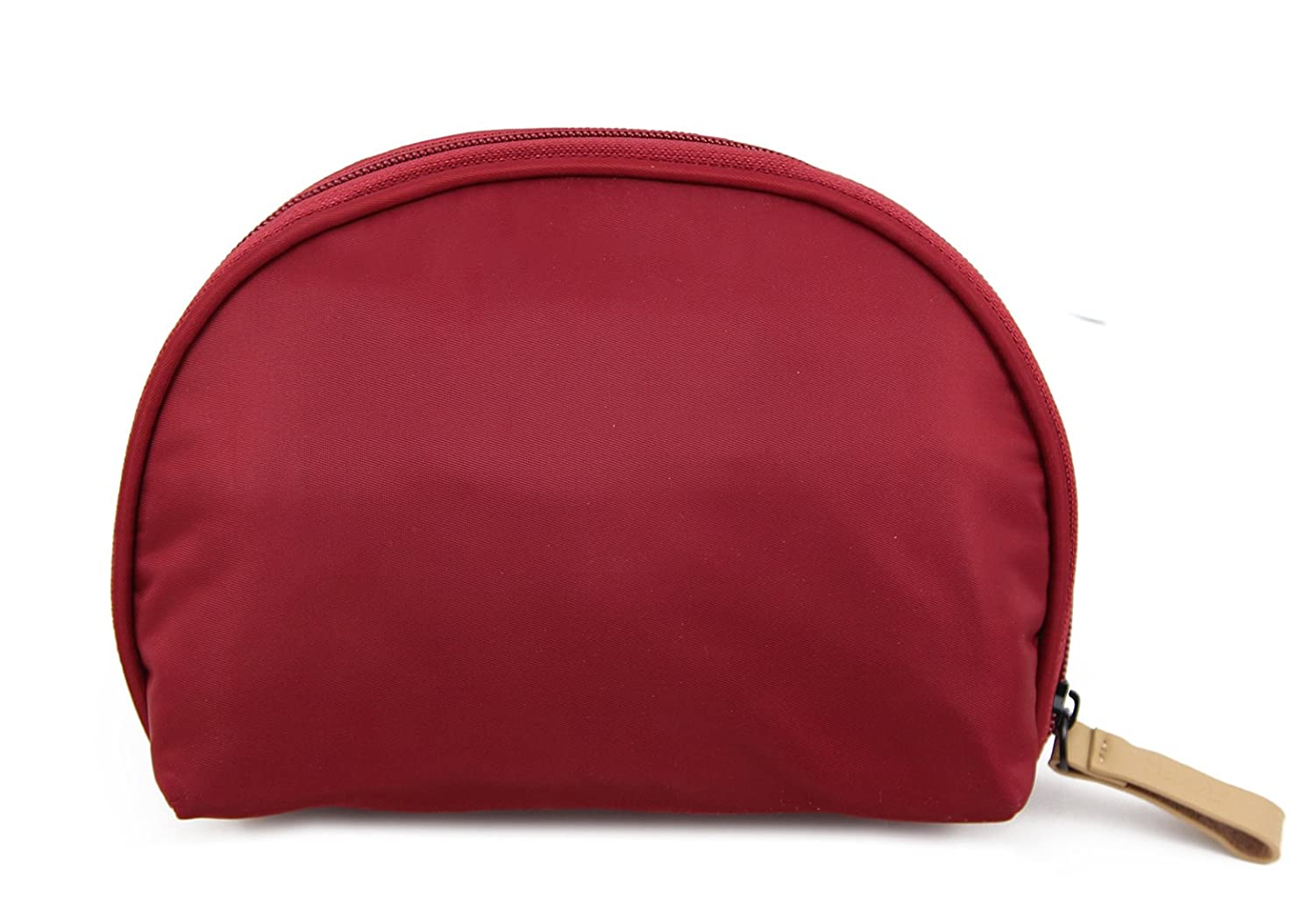 Admirable Idea Small Portable Cosmetic Travel Bag,Women Girls Handy Cosmetic Pouch,Travel Organizer Case Makeup Bag - Dark red