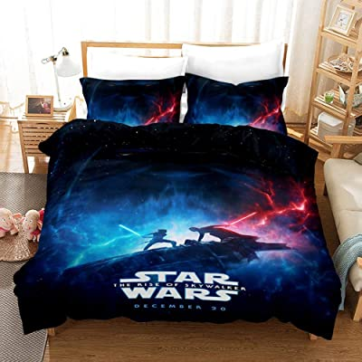 Qweryboo Duvet Cover Set - Star Wars:The Rise of Skywalker Comforter Cover - 1 Duvet Cover and 2 Pillow Cover Case(Queen 90'' × 90''): Home & Kitchen