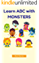 Learn ABC with Monster: Alphabet Books for Kids (English Edition)