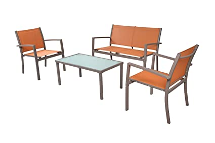 Amazon Com Traxion 4 210 Outdoor Patio Furniture Set Sunset