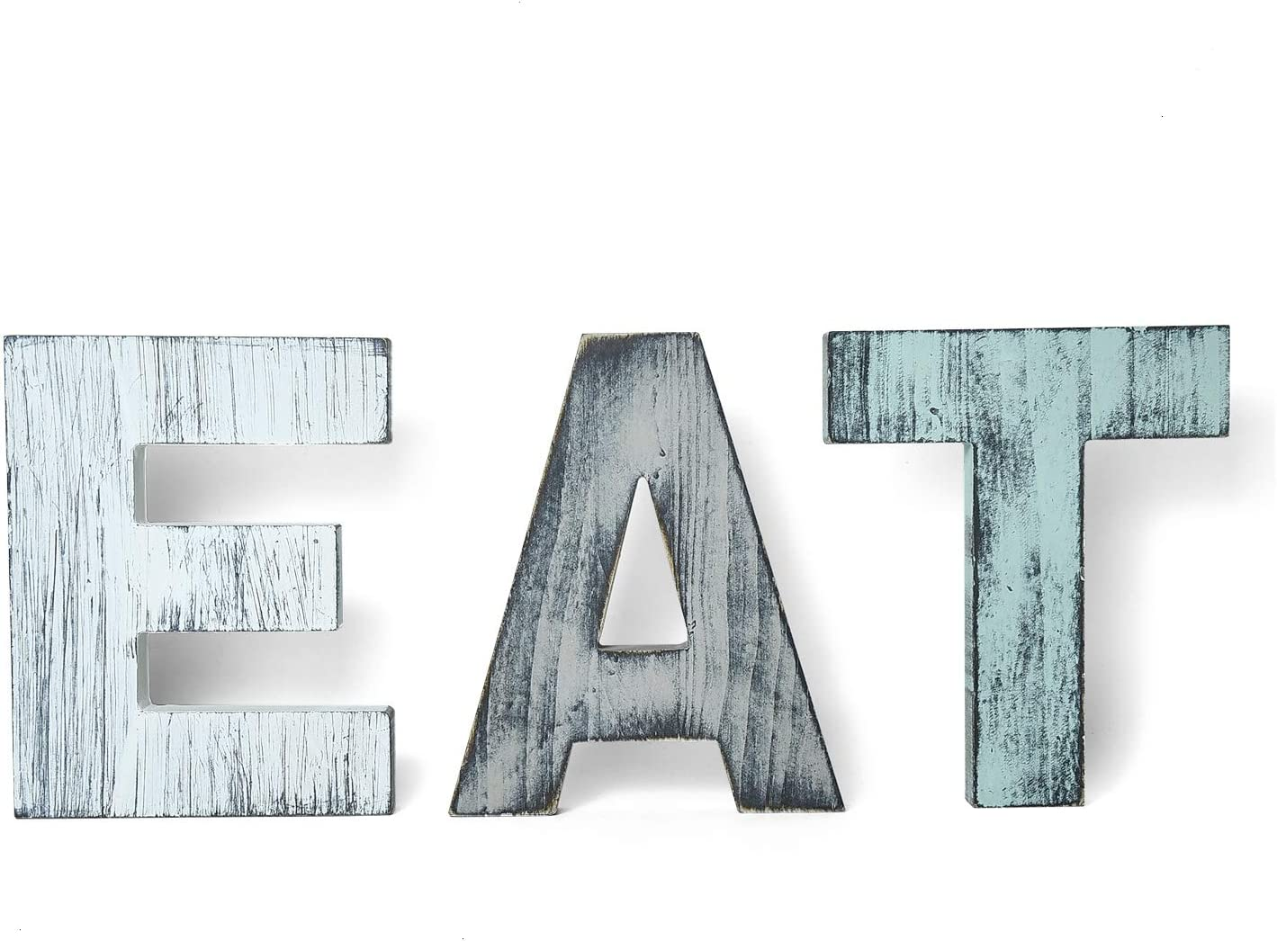 YoleShy EAT Sign Kitchen Wall Decor Rustic Color Farmhouse Decor Wood Wall Plaque with Hanging Hole