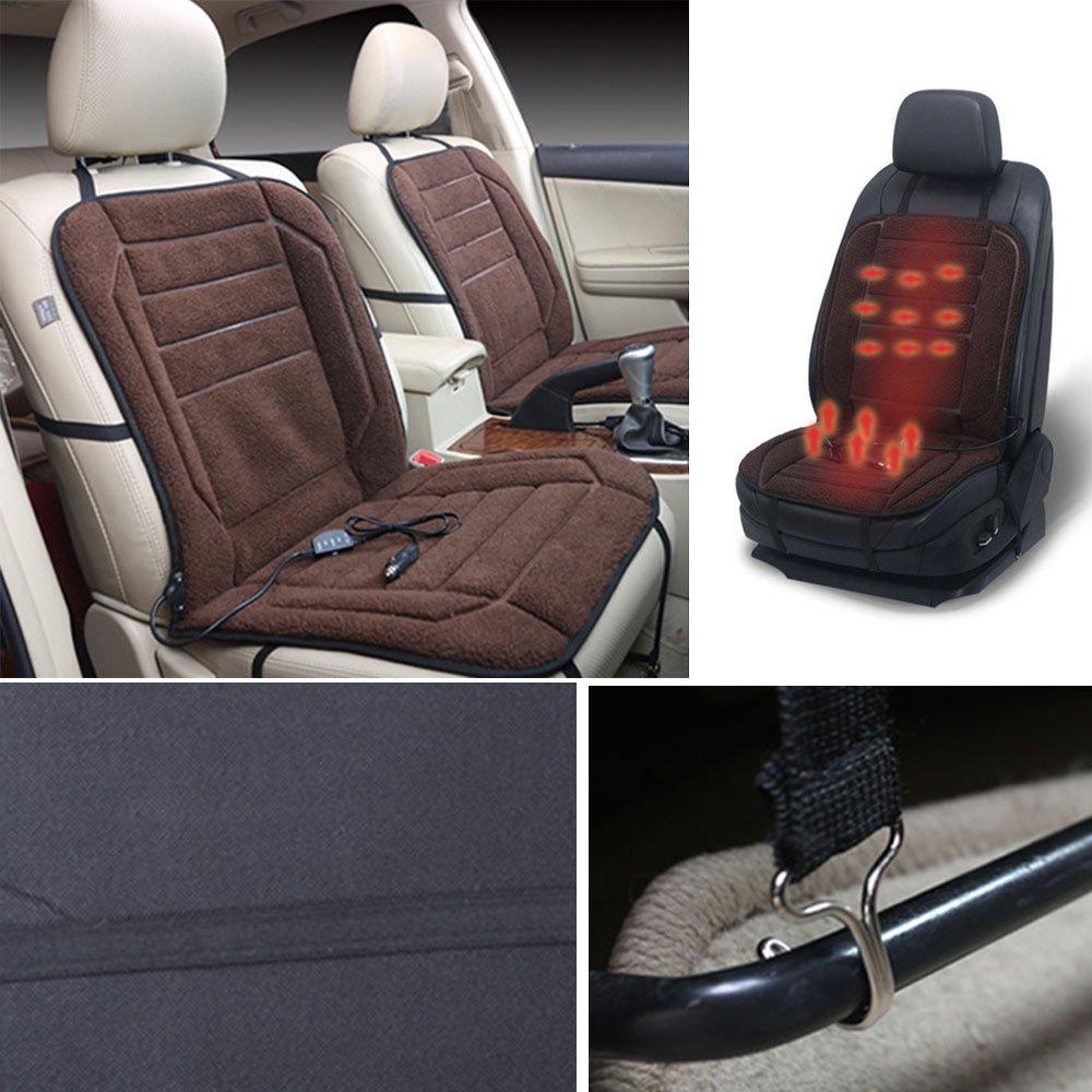 Sedeta® coussin chauffant de voiture Électrique Chauffe hiver Housse de siège de voiture Coussin pour le conducteur DC12V avec régulateur de température