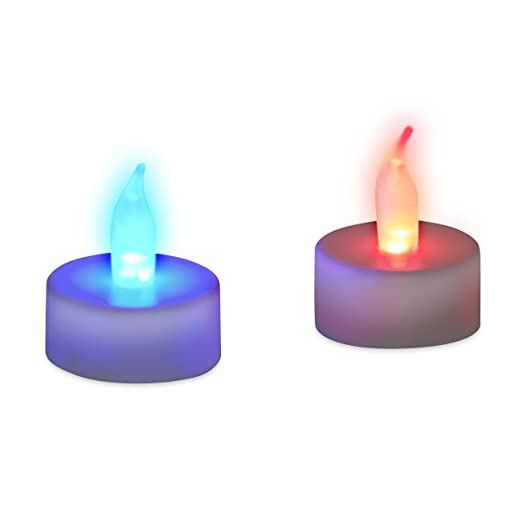 Relaxdays Pack Velas Led Colores, Plástico, 2 Unidades