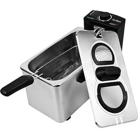 Chef Buddy – Freidora eléctrica (acero inoxidable, 3 – 1/2 litros