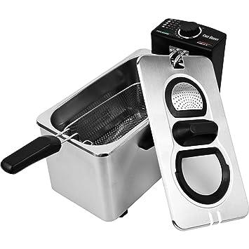 Chef Buddy - Freidora eléctrica (acero inoxidable, 3 - 1/2 ...