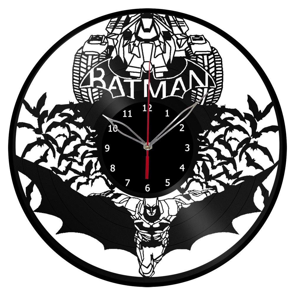 amazon batman vinyl clock record wall clock handmade fan art DDJ-SX YouTube amazon batman vinyl clock record wall clock handmade fan art decor unique decorative vinyl clock12 30 cm 7 home kitchen