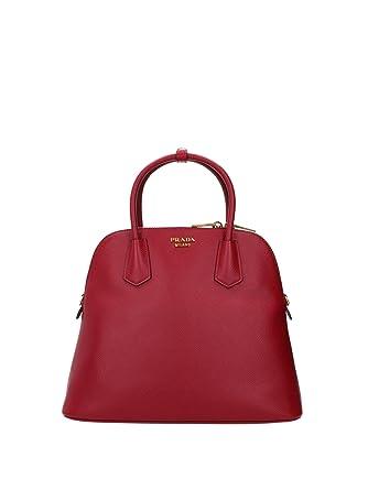 72965fbbedb9c5 promo code for prada womens saffiano leather hand bag w strap red bl0902  saffiano laguna f750d