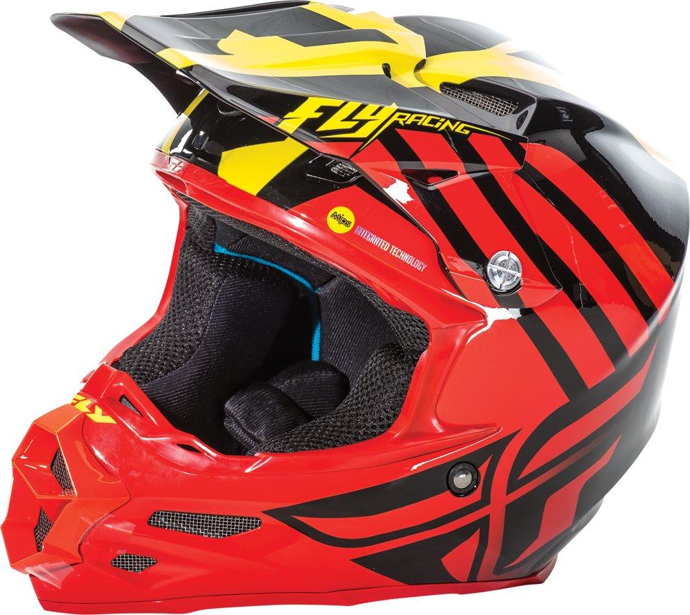 Fly Racing Unisex-Adult Full-face Style F2 Mips Retrospec Helmet Red//Hi-Vis X-Large
