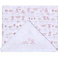 Toalha de Fralda Baby Estampada com Capuz, Papi Textil, Rosa