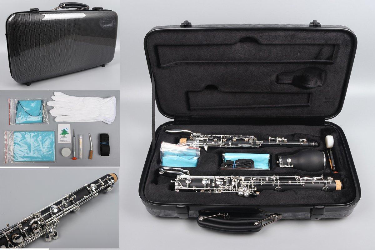 Yinfente Professional English Horn Ebonite wood Sweet Sound English Horn Case Hard Shell Case (Ebonite wood)