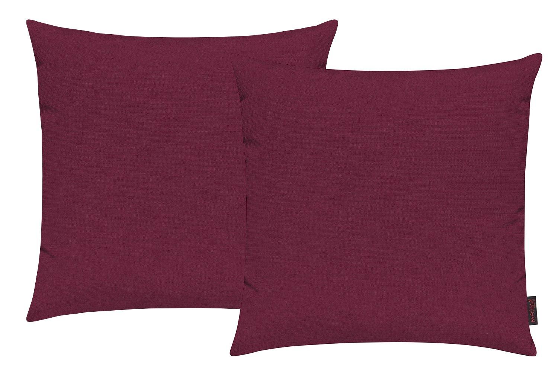 en kit de 2 Housse de coussin Fino env 50 x 50 cm de haute qualit/é /& infroissable couleur 001 noir