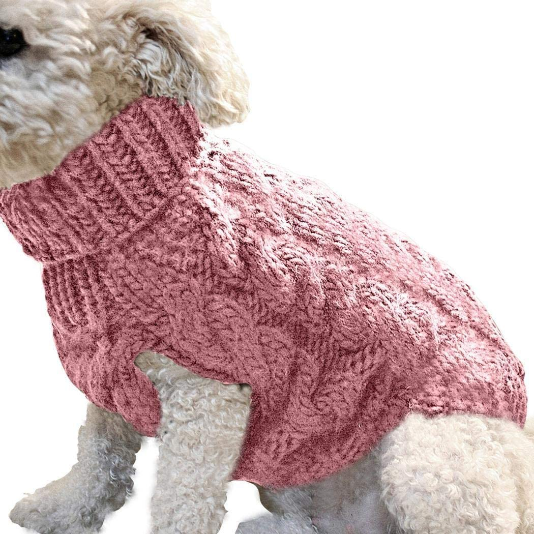 Zippem Soft Comfortable Small Pet Dog Knitted Winter Warm Sweater Feather Boas