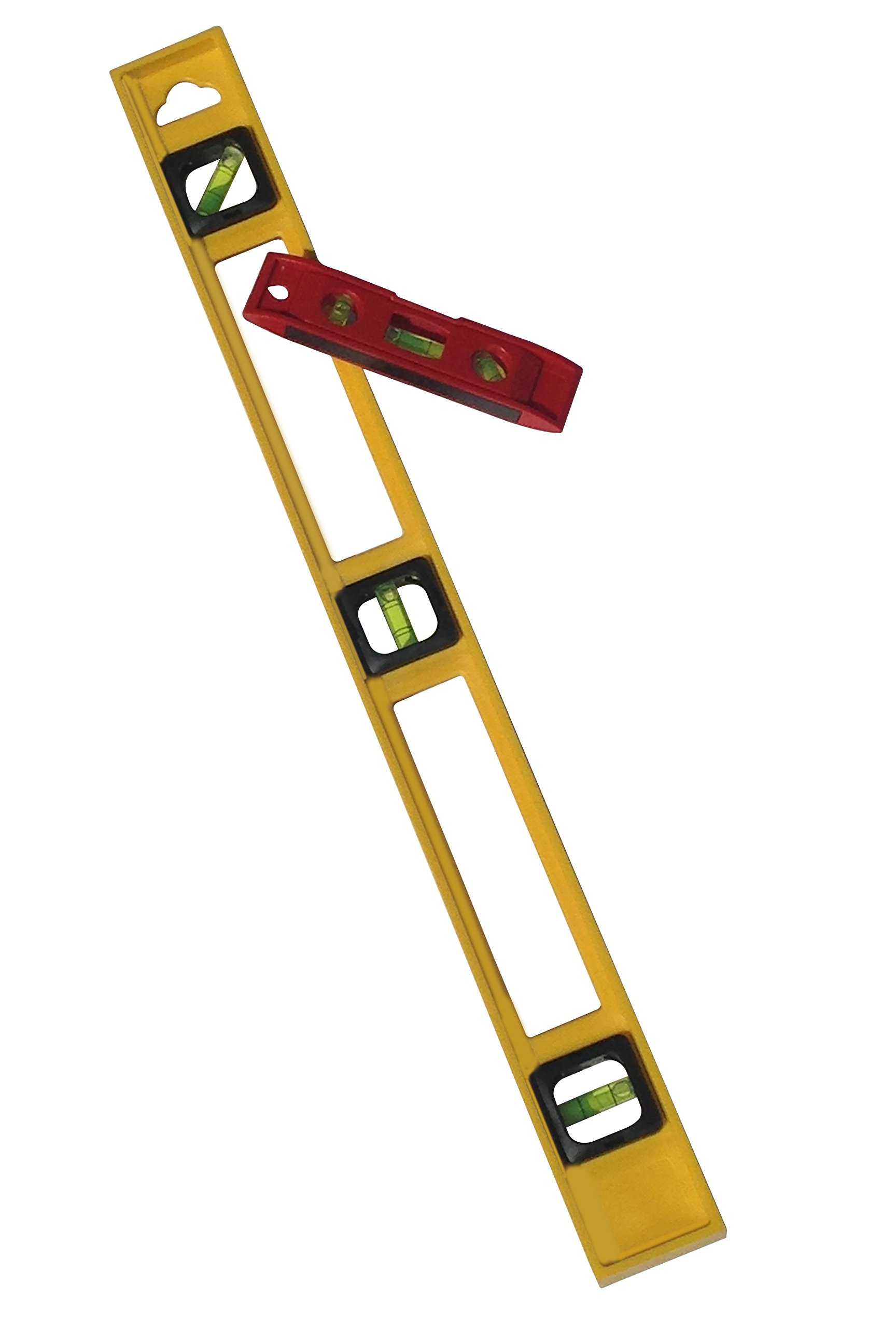 24 Inch and 6 Inch 3 Bubble Torpedo Level Pack Home or Jobsite Approved by Straight and Narrow (Image #2)