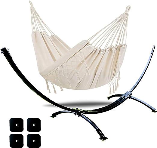 Dondolio - Soporte para hamaca doble XXL para hamacas de acero de 300 kg, 320 cm y 125 cm, hamaca de jardín: Amazon.es: Jardín