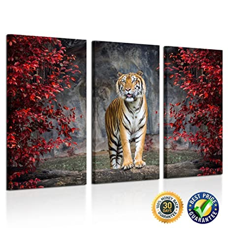 kreative arts large size 3 piece canvas wall art painting tiger pictures prints on canvas