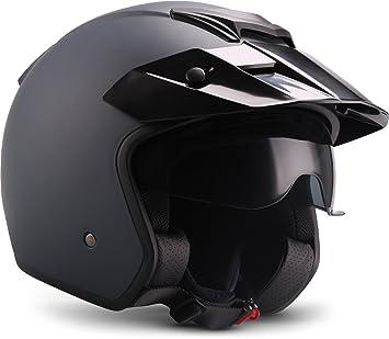 Moto Ciclismo Moto de casco, color azul, tamaño M (57 – 58 cm