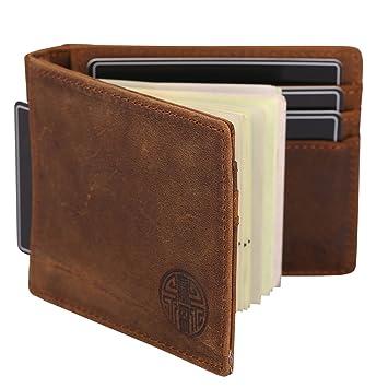 059f96c08136cc Win&Income Geldbörse mit Geldklammer für Herren, Echt Leder Geldbeutel mit RFID  Schutz, Brieftasche mit