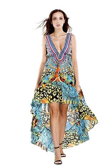 d5cc3e7f6b La Moda Clothing High Low Dresses, Maxi Dresses & Midi Dresses | Designer  Resort Wear | by GOGA Swimwear at Amazon Women's Clothing store: