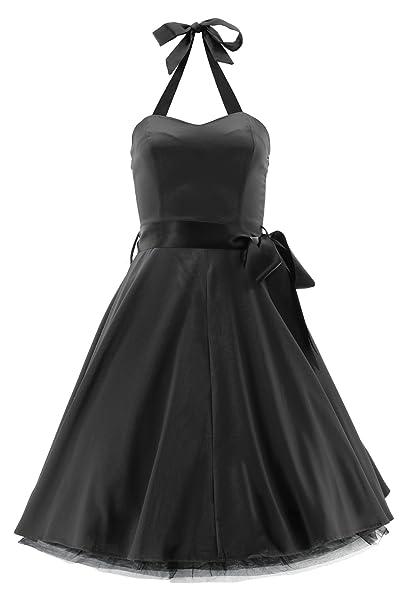 H&R London - Vestido - para Mujer Negro X-Small