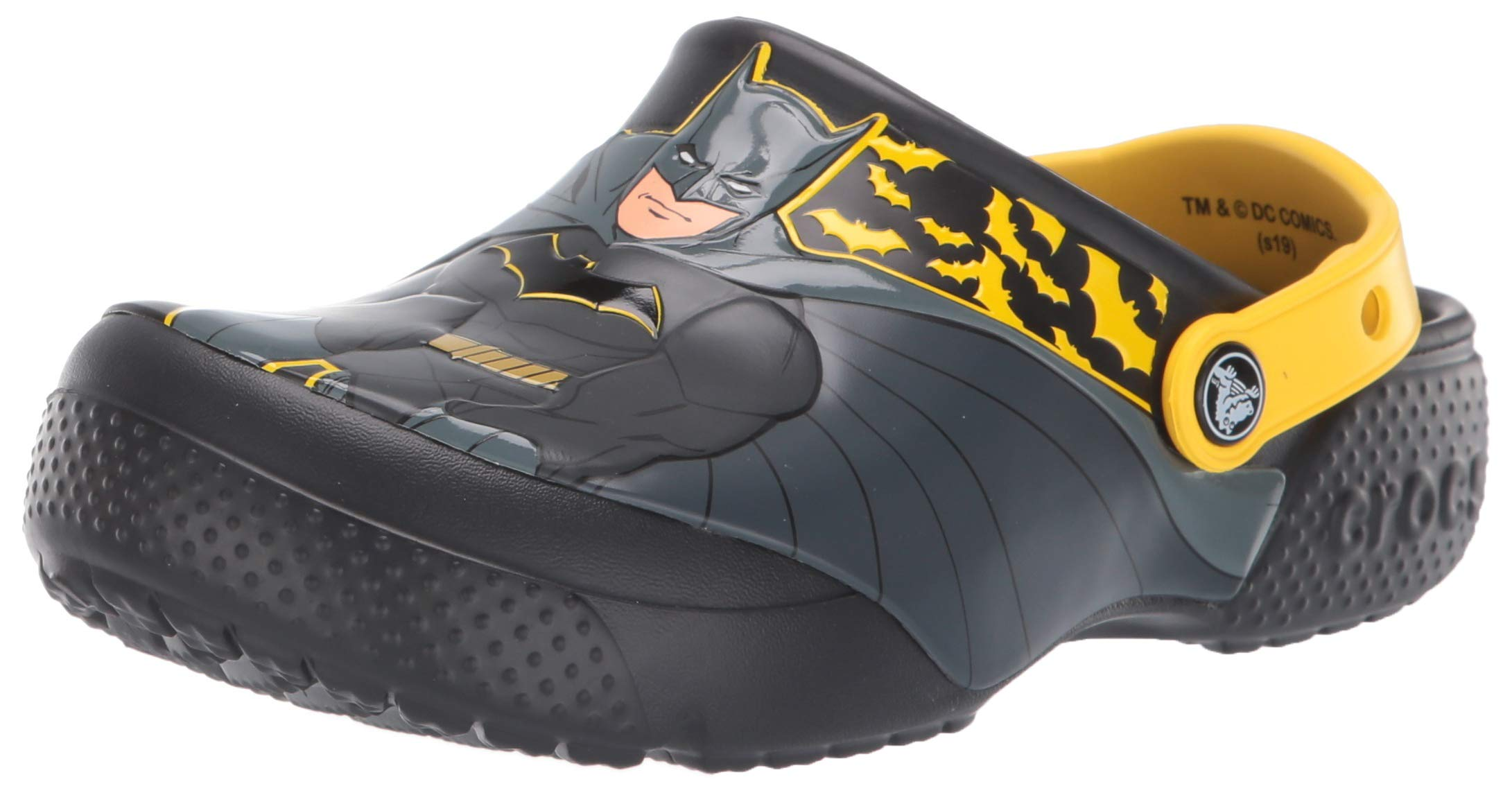 Crocs Kids' Fun Lab Iconic Batman Clog, Black, 10 M US Toddler