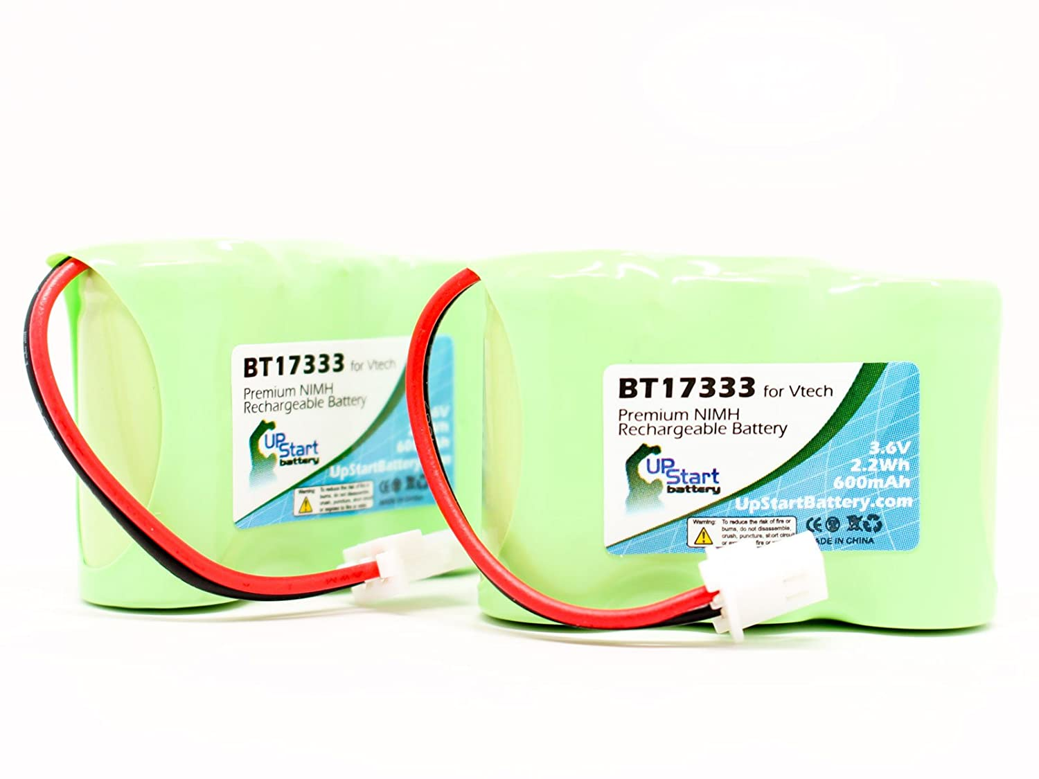 2x Pack - Sanyo 3N270AA-MRX-R Battery - Replacement for Sanyo Cordless Phone Battery (600mAh, 3.6V, NI-MH) Upstart Battery BT-17333-2BATT-DL42