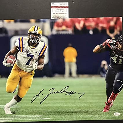 7721a34f7 Autographed Signed Leonard Fournette LSU Tigers 16x20 Football Photo JSA  COA  2 at Amazon s Sports Collectibles Store