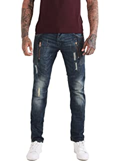 477764dcb90 883 Police Mens Jeans Hazard AI 428 Twisted Fit Jeans Blue Wash 36 ...