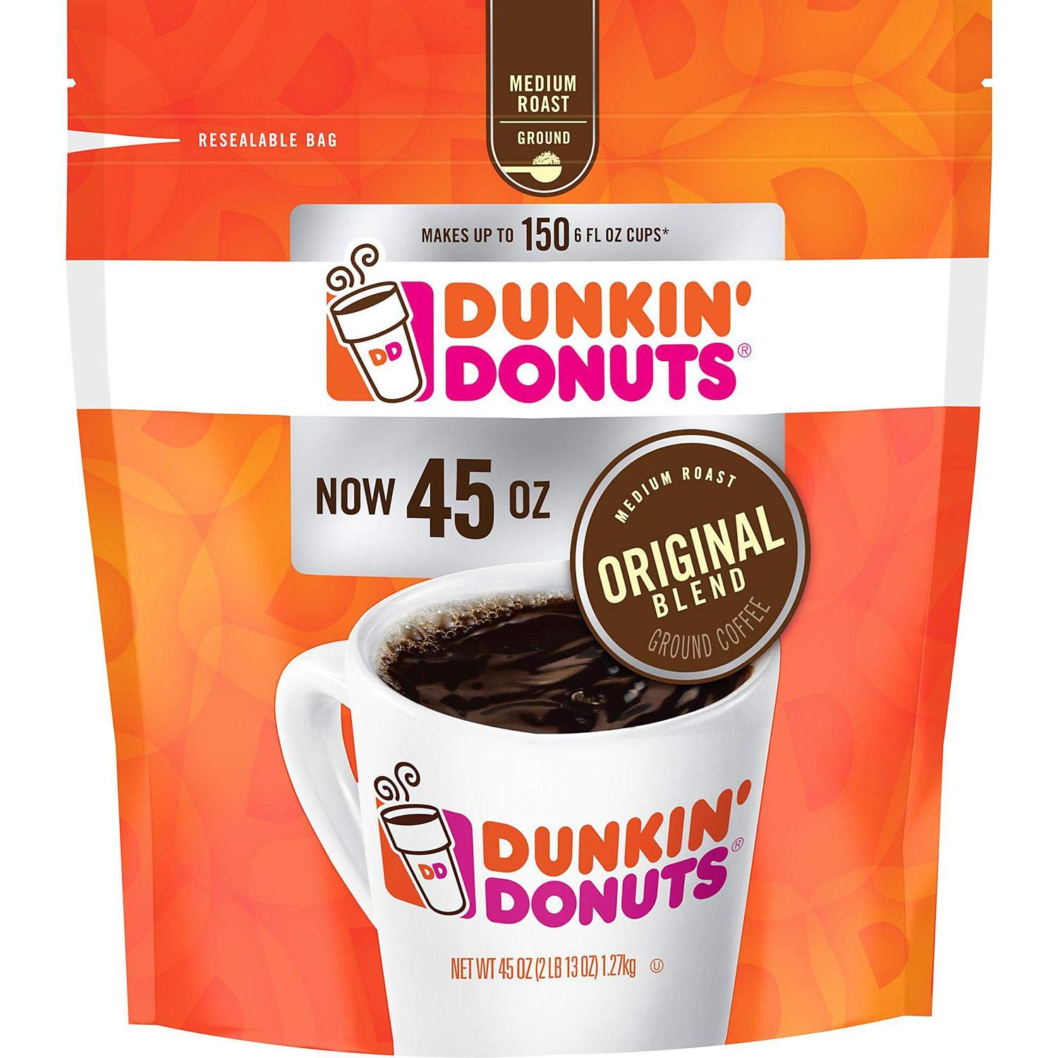 Dunkin' Donuts Ground Coffee, Original Blend Medium Roast, 90 Ounce by Dunkin' Donuts