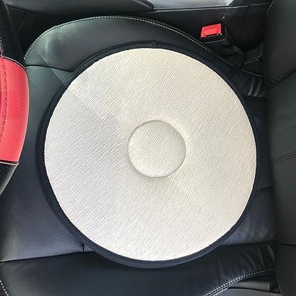 Amazon Blue Net Swivel Seat Cushion For Car Elderly 360 Rotation Lightweight Portable Memory Foam Auto Anti Slip Back