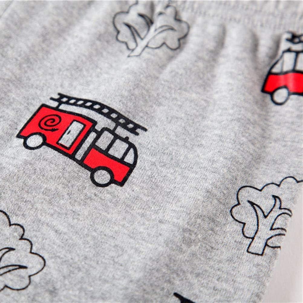 Cczmfeas Boys Pajamas Cotton Clothes Set Toddler Pjs Kid 2 Piece 2-7T