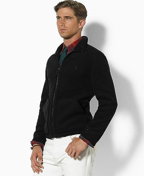 Ralph Lauren hombres Chaqueta Polo Fleece con gamuza Recorte ...