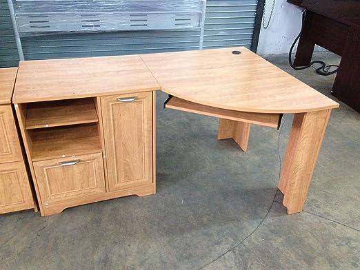 Amazoncom Realspace Magellan Collection Corner Desk Honey Maple