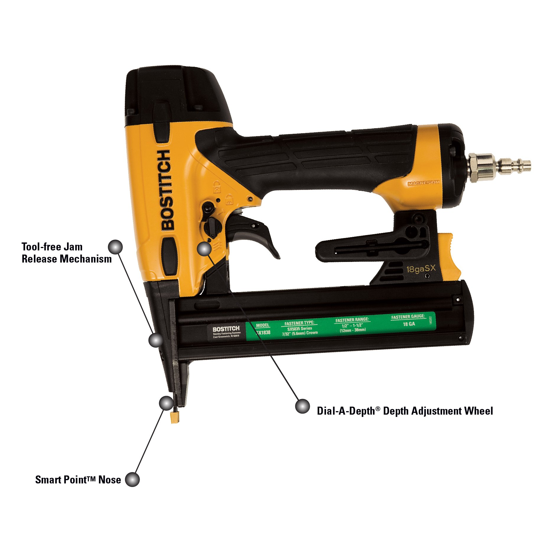 BOSTITCH SX1838K 18-Gauge Narrow-Crown Stapler by BOSTITCH
