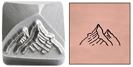 Amazon Com Mountain Tops Metal Design Stamp 12mm Two