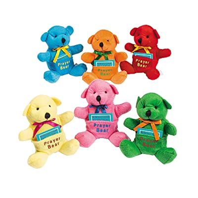Fun Express - Plush Prayer Bears - Toys - Plush - Stuffed Bears - 12 Pieces: Toys & Games