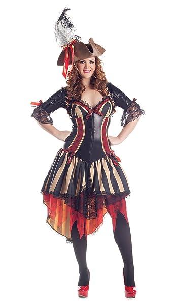 Amazon.com: Plus Size Deluxe – Disfraz de pirata: Clothing