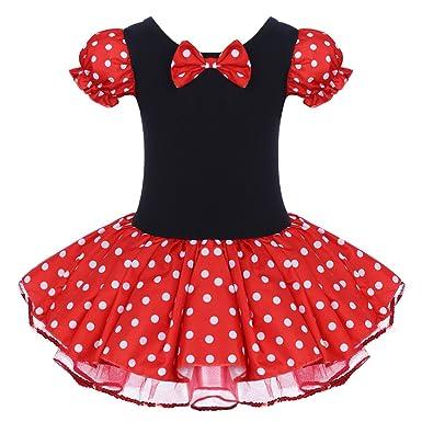 a2d9867ec Amazon.com: Girls Vintage Polka Dots Christmas Princess Dress Cosplay Fancy  Ballet Dance Leotard Tutu Birthday Outfits with Headband: Clothing