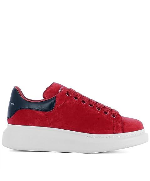 e29fcd9f35e42 Alexander McQueen Women's 482142W4fkt6460 Red Velvet Sneakers ...