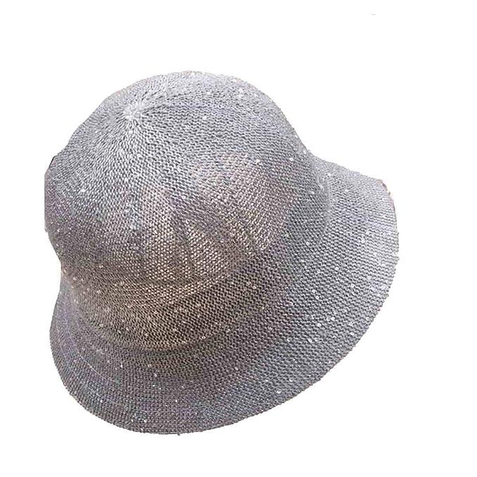 Paillettes Estivi ZHPUPU Cappelli Della Benna Delle Donne Possono Essere  Piegate Cappello,Black-OneSize: Amazon.it: Abbigliamento