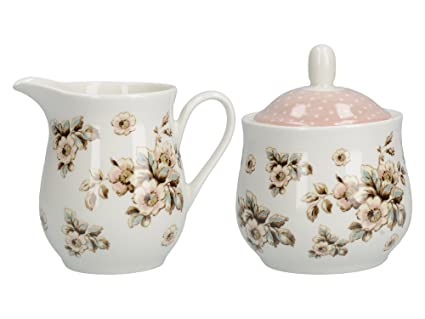 Creative Tops KATIE ALICE Cottage Flower SHABBY CHIC Porcelain SUGAR BOWL    CREAMER 5547aac8098