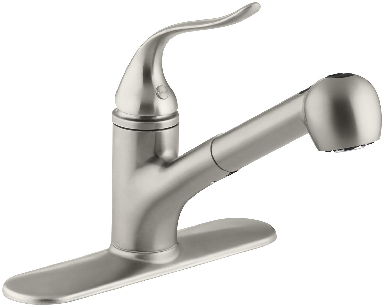 KOHLER K-15160-CP Coralais Single-Control Pullout Spray Kitchen Sink ...
