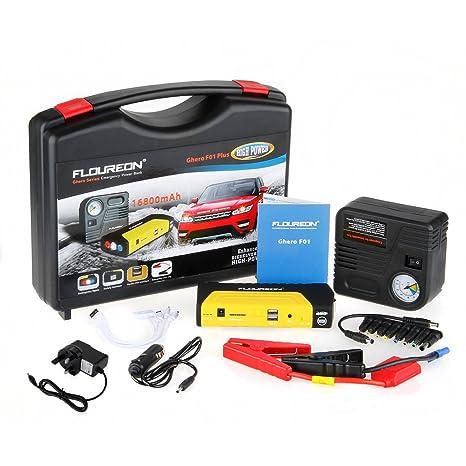 Floureon® Ghero F01 16800mAh Mini Car Plus Multi-Function Jump Starter Pack Power Bank