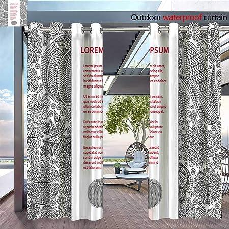 QianHe - Cortinas de balcón con diseño de póster o banderín, Impermeables con Ojales: Amazon.es: Jardín