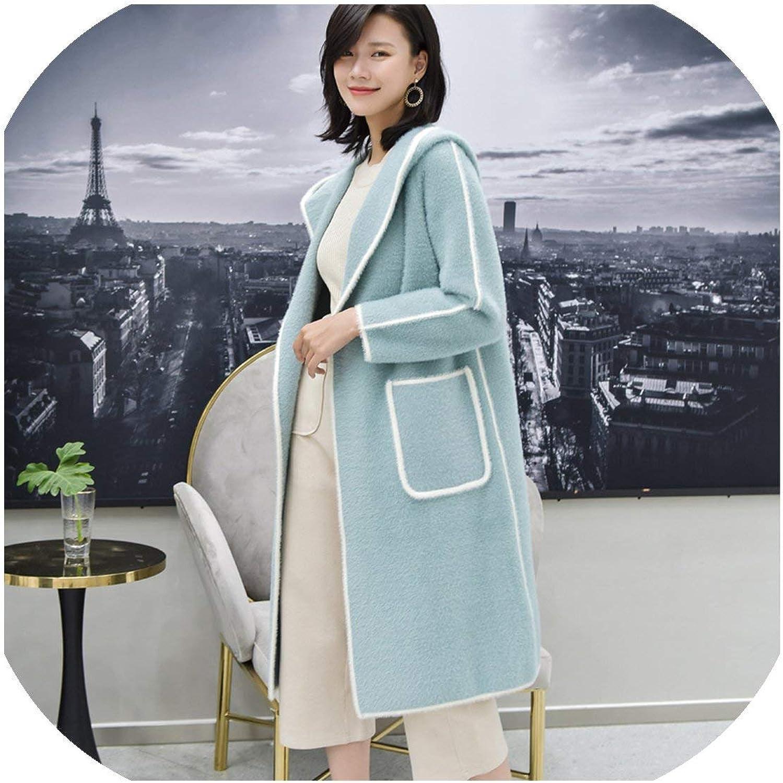 COOL Store Manteau pour Femme en Tricot épais à Capuche