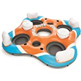 Bestway CoolerZ Rapid Rider Quad Inflatable Raft | Pool Float Includes 4 Cupholders, 2 Built-In Coolers, 2 Storage…