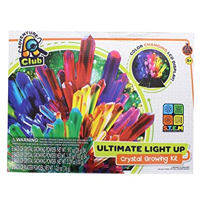 ADVENTURE CLUB Ultimate Light-Up Crystal Growing Kit: Toys & Games