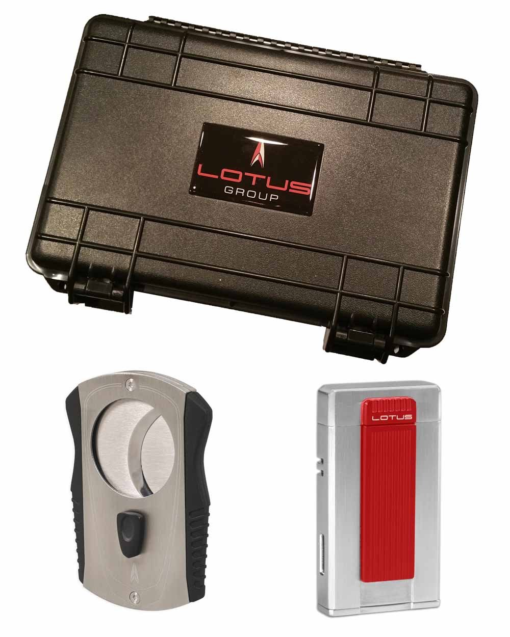 Ambassador Colussus 80 Ring Gauge Cutter Gift Set Red Lighter 5 Count Travel Humidor in an Attractive Gift Box Warranty