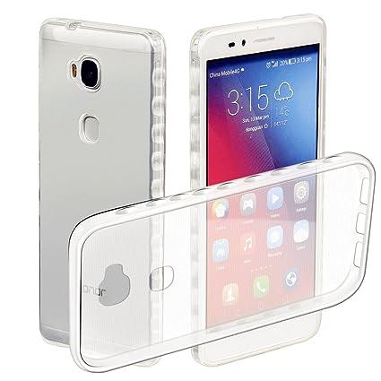Funda Huawei Honor 5X Transparente,MUTOUREN Carcasa TPU Funda Anti-Rasguño Anti-Golpes Cover Protectora Caso Bumper Slim Silicona Case [Ultra Fina] ...
