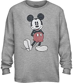 GmCslve Mickey-Mouse /& Pluto Mens Black Long Sleeve Hoodie Sweatshirt Pullover