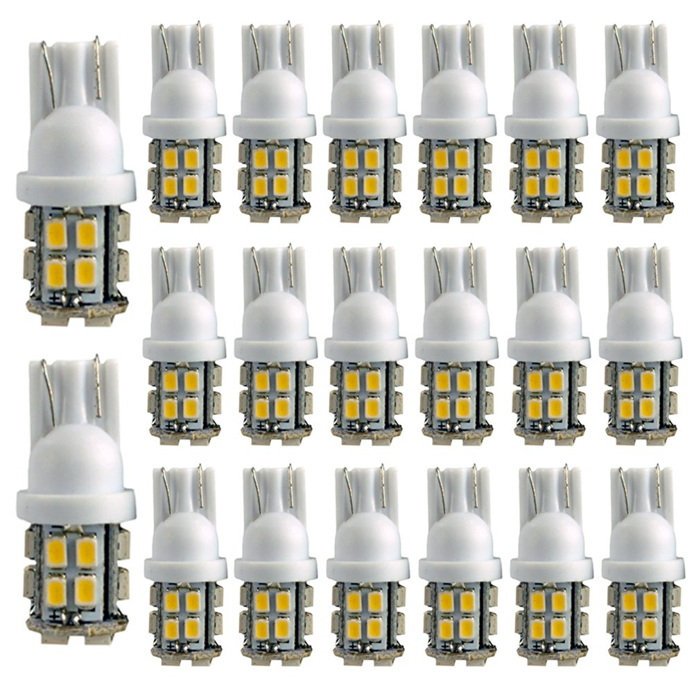HOTSYSTEM T10 W5W 194 168 501 Car White 20 SMD LED Inverted Side Wedge Light Bulb 12V 20-pack